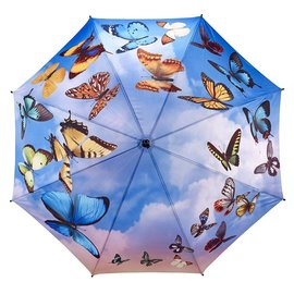 Galleria Stick Umbrella Swirling Butterflies