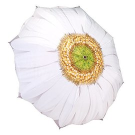 Galleria Folding Umbrella White Daisy