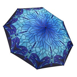 Galleria Folding Umbrella Stained Glass Dragonfly