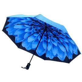 Galleria Stick Umbrella Blue Dahlia