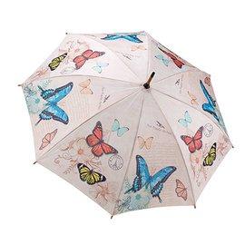 Galleria Stick Umbrella Vintage Butterflies