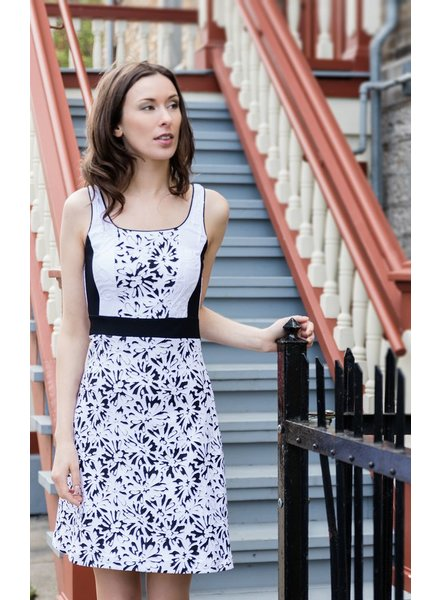 KARKASS Karkass DRESS SARA WHITE / BLACK