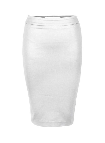 I LOVE TYLER MADISON TYLER MADISON WAXED PENCIL SKIRT MARSHMALLOW