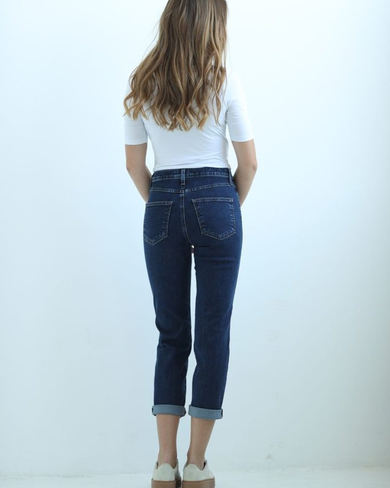 YOGA JEANS JEANS HIGH RISE STRAIGHT CROP NORMANDIE/BLEU