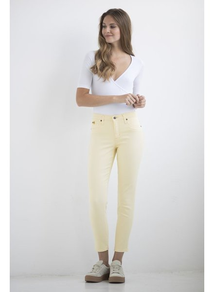 YOGA JEANS JEANS HIGH RISE ANKLE SUNSHELL / YELLOW