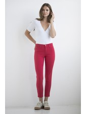 YOGA JEANS JEANS HIGH RISE ANKLE LOVE / RED