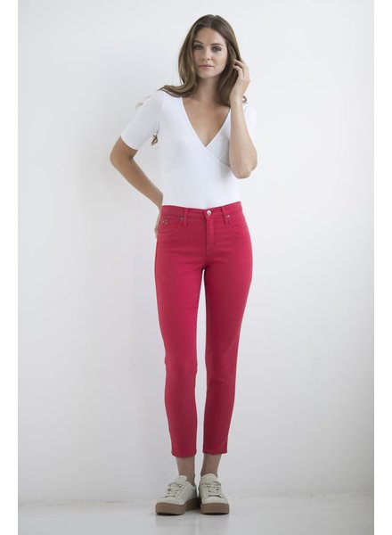 YOGA JEANS JEANS HIGH RISE ANKLE LOVE/ROUGE