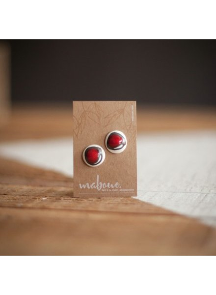 MABOUE MOBOUS WHITE STUDS DRAW RED