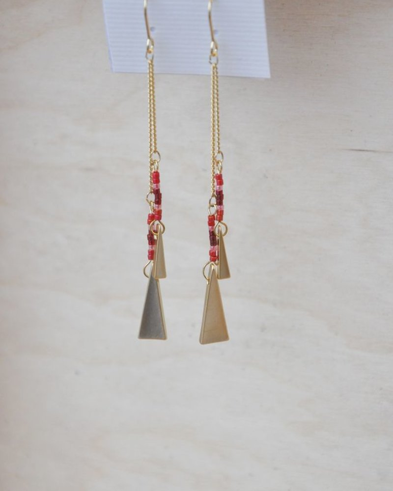 BOBO B.OREILLE TRIANGLE ROUGE