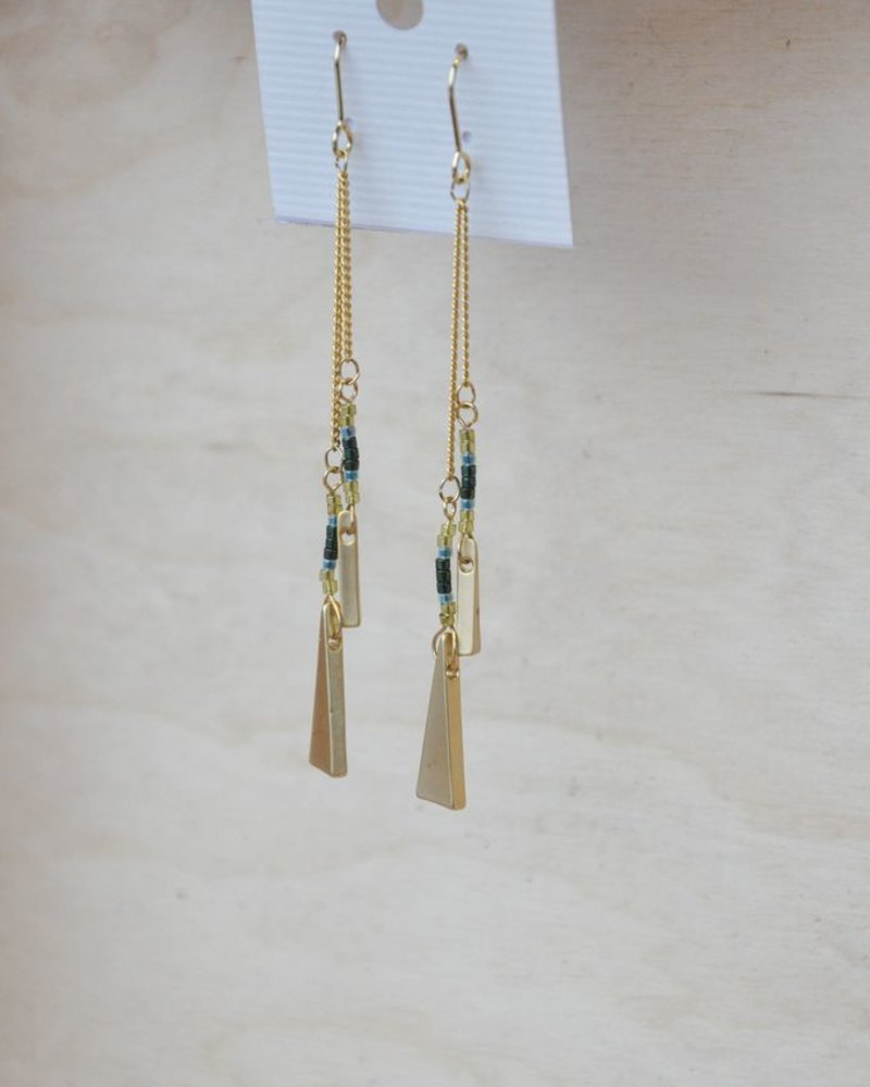 BOBO B.OREILLE TRIANGLE GREEN
