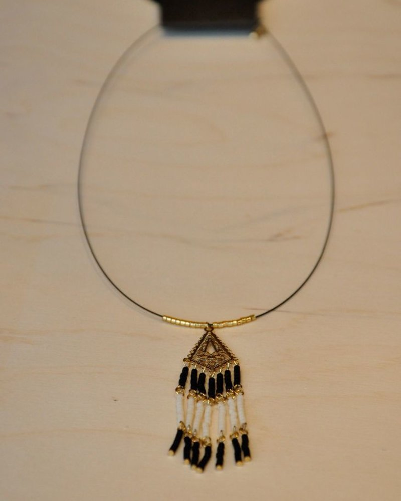 BOBO NECKLACE PENDANT BLACK / WHITE