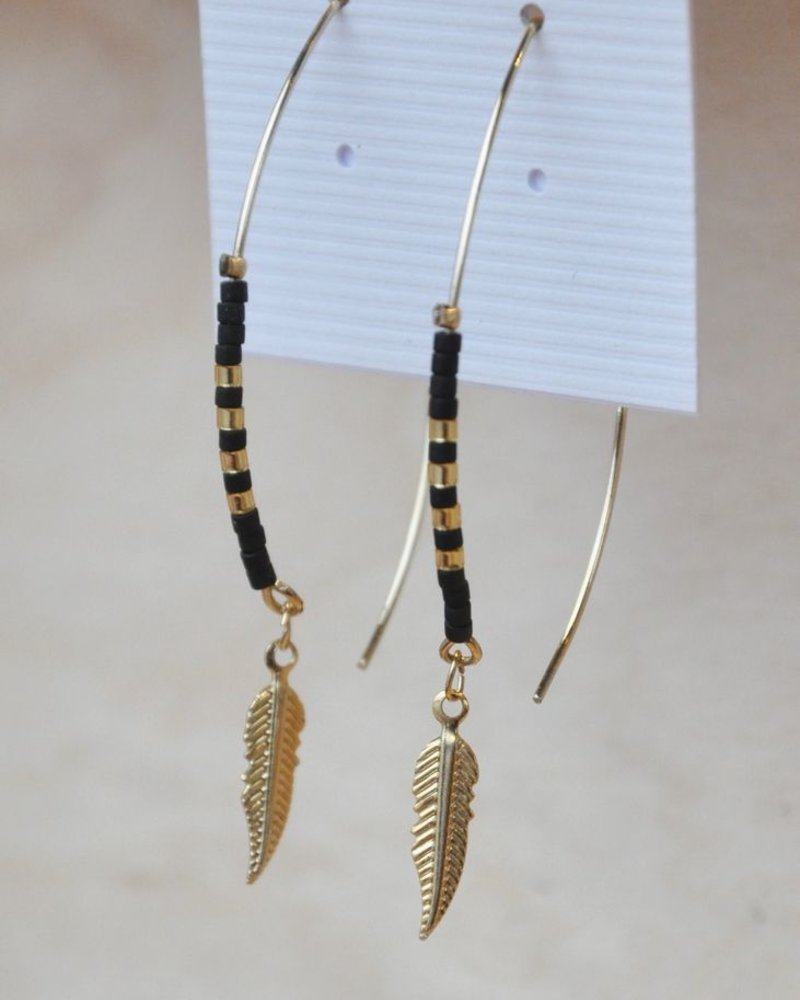 BOBO B.OREILLE SMALL FEATHER BLACK