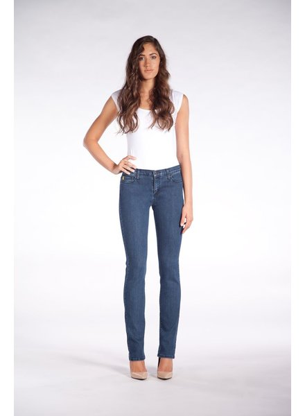YOGA JEANS JEANS HIGH RISE STRAIGHT CLASSIC BLUE