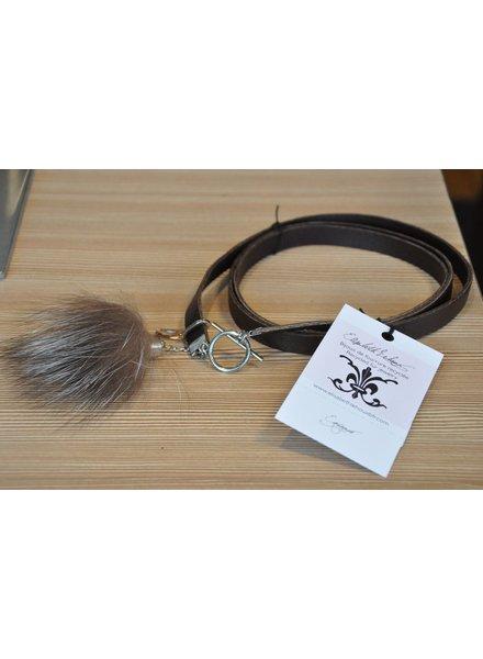 ELISABETH LEHOUX LEHOUX COLLIER/BRACELET CB2 SMALL BRUN