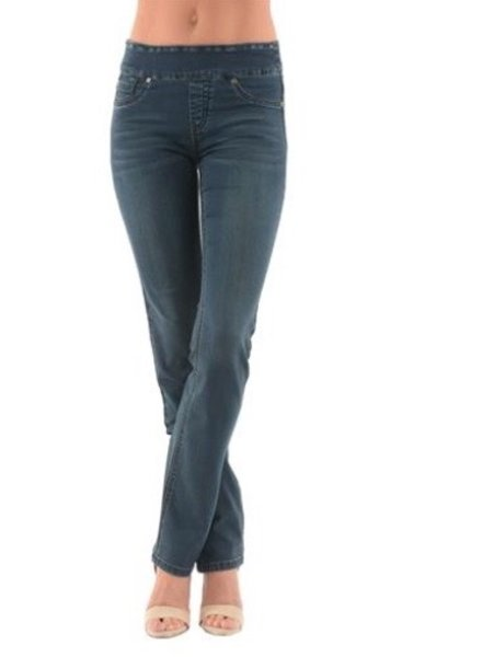 BECXY B. BECXY JEANS RILEY STRAIGHT PULL ON BLEU 24