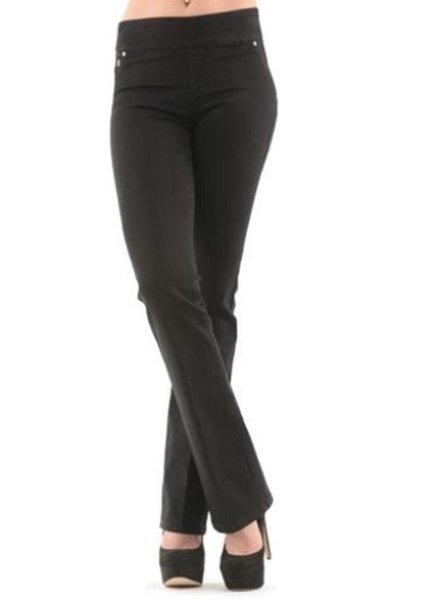 BECXY B. BECXY JEANS RILEY BOOT CUT PULL ON  NOIR 24