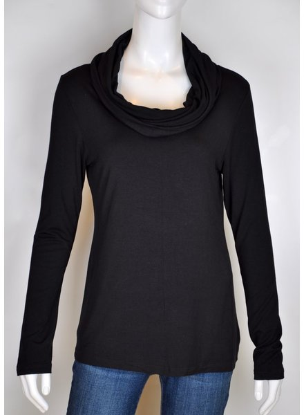 VIVA SWEATER M / L COLLAR BAVEUX GENEVIEVE BLACK
