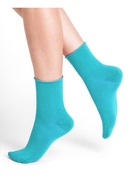 BAS/COLLANT BLEU FORÊT BLUE FORET SOCKS TURQUOISE VELVET SOCKS