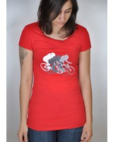 OOM OMM T-SHIRT TRI-CYCLE TOMATE