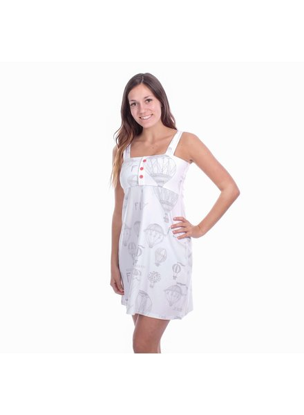 MESSAGE FACTORY MESSAGE ROBE SOLEIL PASSIFLORE MONTGOLFIERE BLANC