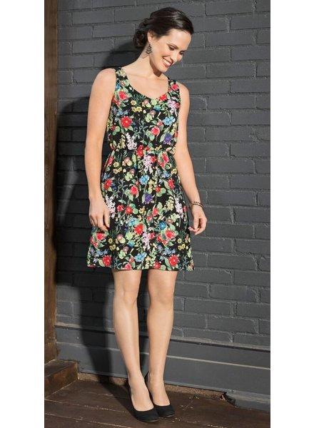 CHERRY BOBIN FLOWERS RIVER DRESS