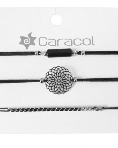 CARACOL ENSEMBLE 3 BRACELETS ARGENTÉ