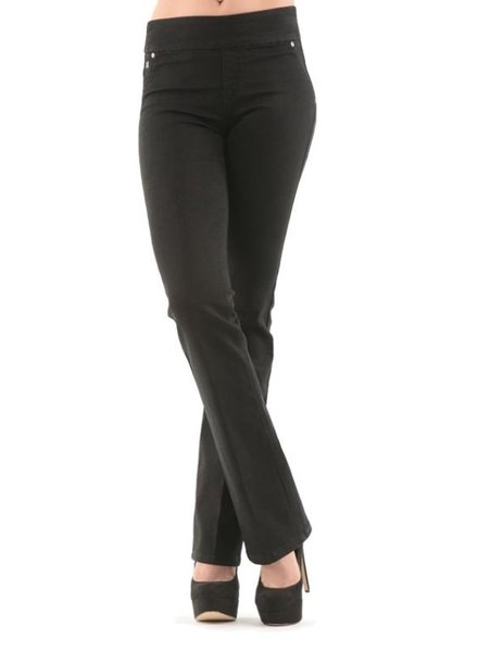 BECXY B. JEANS RILEY PULL ON STRAIGHT BLACK