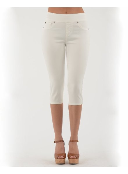BECXY B. RILEY LONG BERMUDA JEANS WHITE