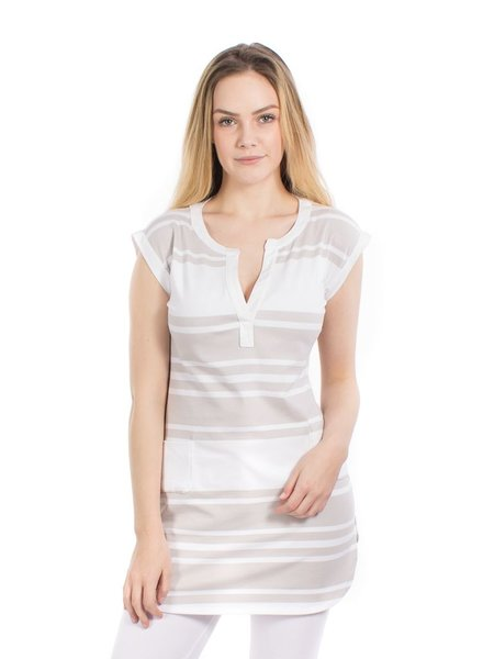 OOM OMM TUNIC MATHILDE STRIPES BEIGE / WHITE