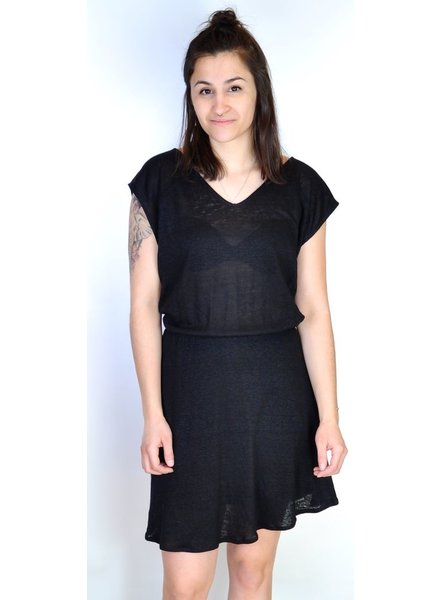 EVE GRAVEL SPORT DRESS PLEATED SIZE BLACK TEMPO