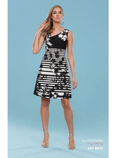 LUC FONTAINE KEYWEST DRESS BLACK / WHITE
