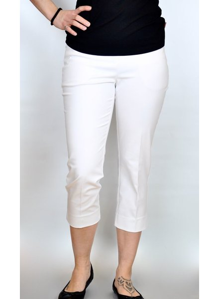 LISETTE CAPRI 21 ½ '' WITH POCKETS JUPITER FABRIC WHITE