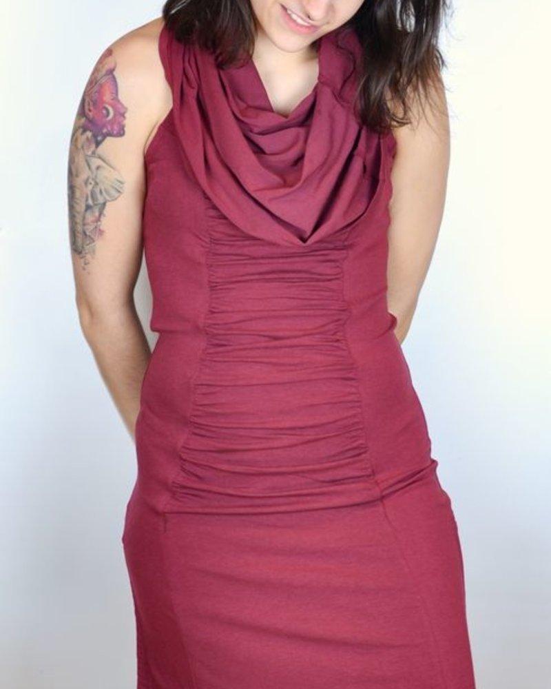 DRESS MARAKESH BURGUNDY