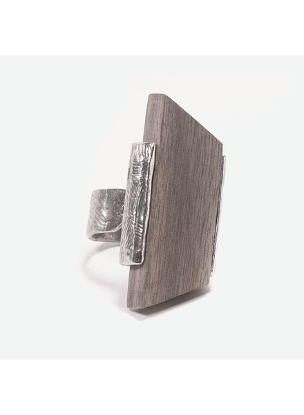 ANNE MARIE CHAGNON RING PASSAT WOOD GRAY