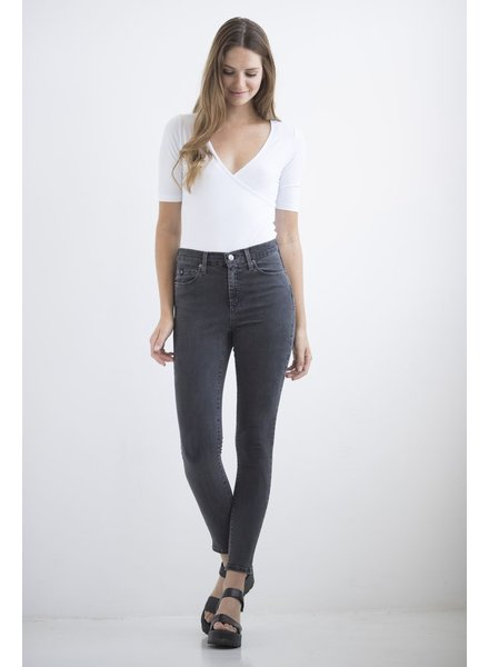 YOGA JEANS JEANS HIGH RISE ANKLE MADDOX/CHARCOAL