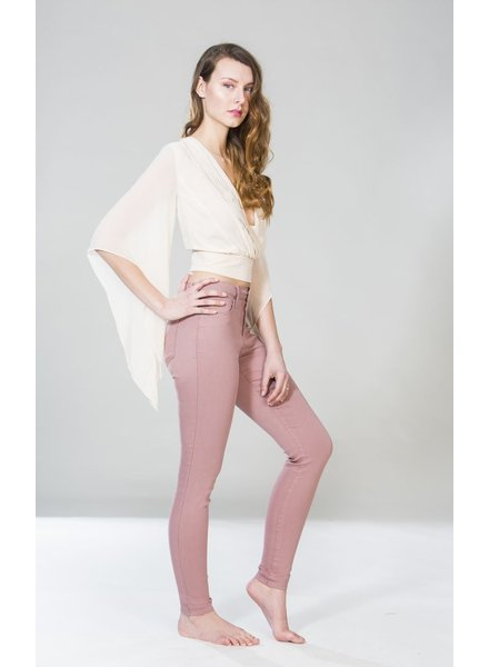 YOGA JEANS JEANS SKINNY PINK TAUPE
