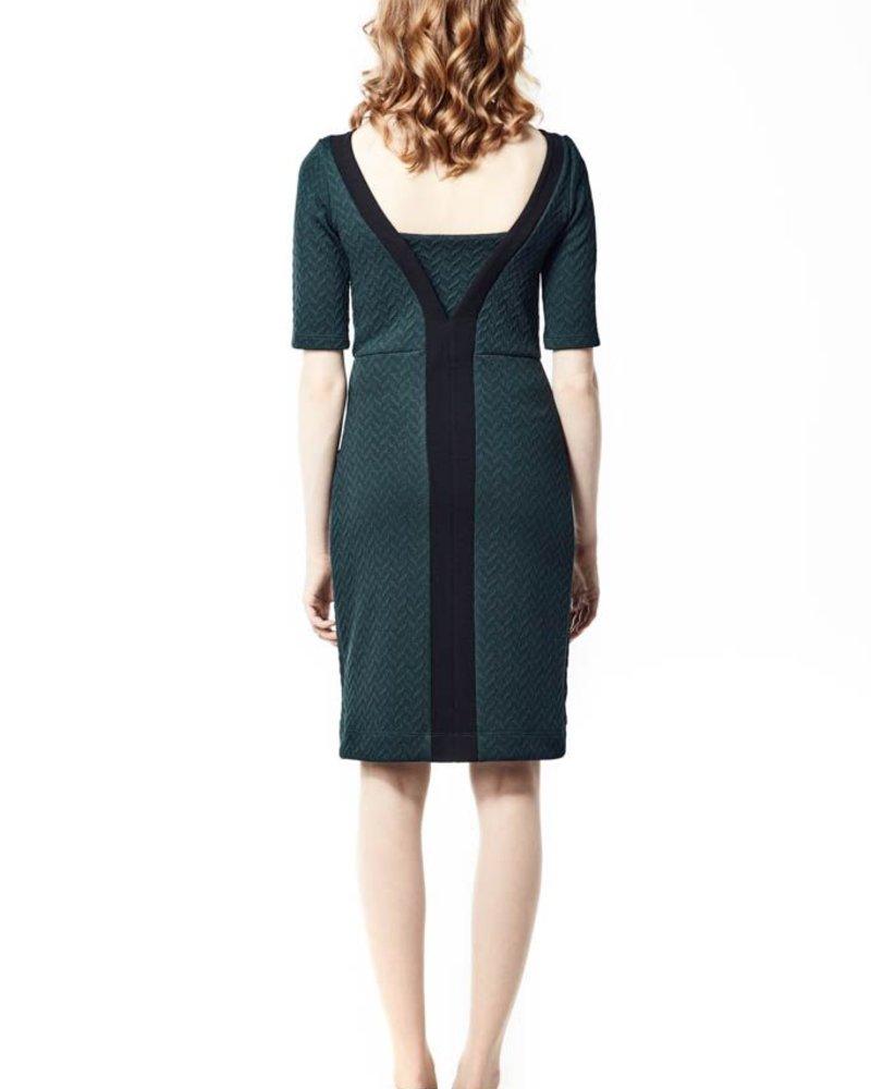 ANNIE 50 ELIZABETH DRESS GREEN AND BLACK