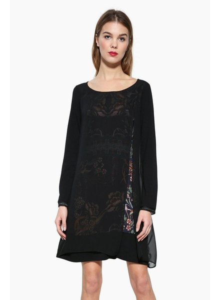 DESIGUAL CARLEE DRESS BLACK