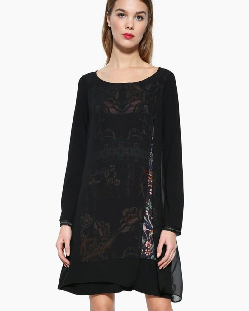 DESIGUAL CARLEE DRESS BLACK