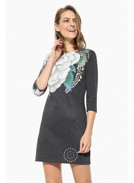 DESIGUAL PICHI CHARCOAL DRESS