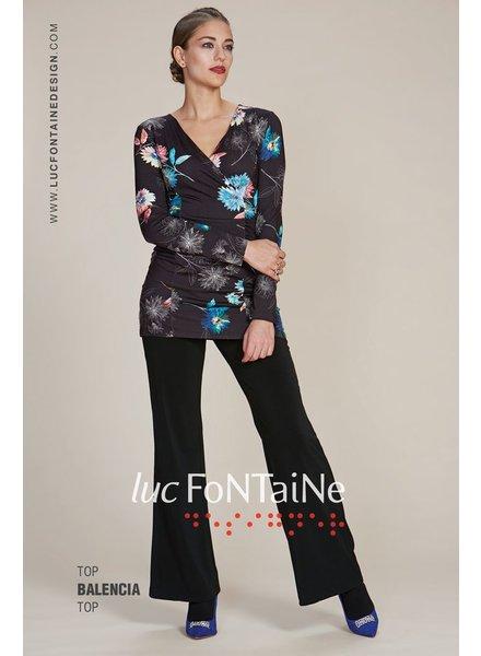 LUC FONTAINE HIGH BALENCIA BLACK FLOWERS MULTI