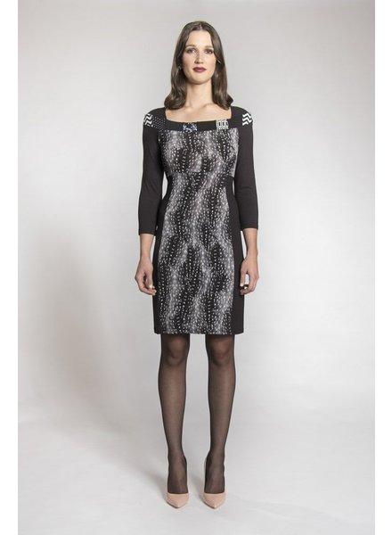 MYCO ANNA MONET DRESS BLACK / GRAY