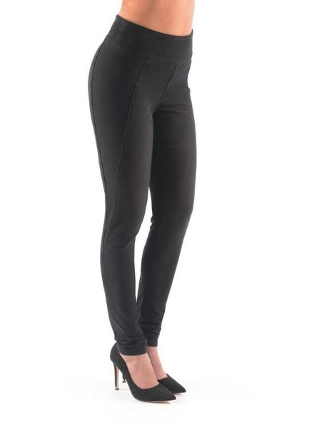 BECXY B. JEANS JOYCE PULL-ON PANT W TWISTED LEGS DARKSTONE/NOIR