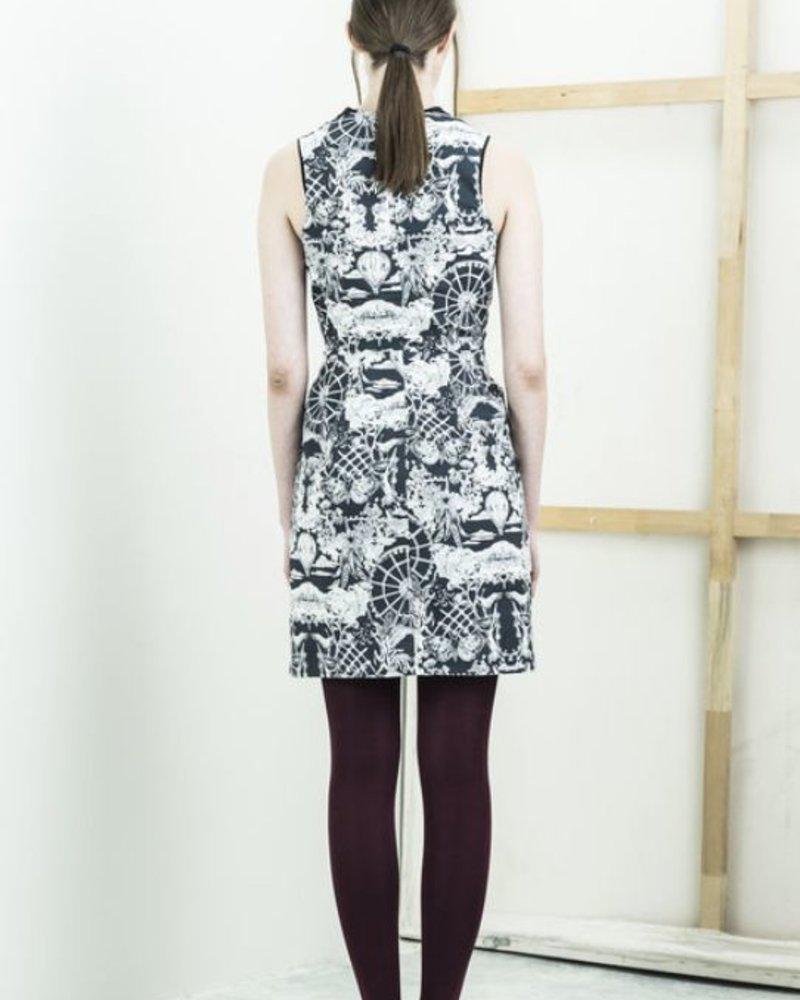 BODY BAG ROBE CONEY DRESS PARK PRINT