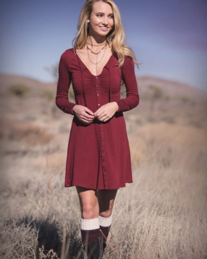 ANASTASIA RED CABERNET DRESS