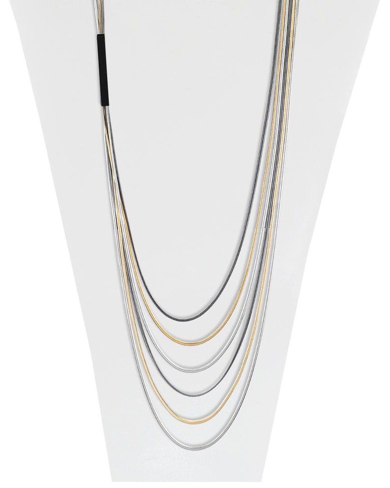 CARACOL COLLIER/6 CHAINES COULEURS MIX