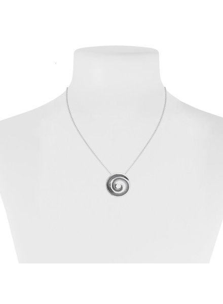 CARACOL SHORT AND PENDANT CHAIN SPIRAL METAL GRAY