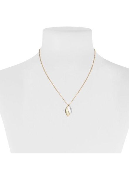 CARACOL SHORT CHAIN WITH PENDANT 2 SMALL SHEETS GOLDEN