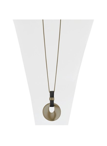 CARACOL NECKLACE / LONG CHAIN AND PENDANT COPPER COLOR