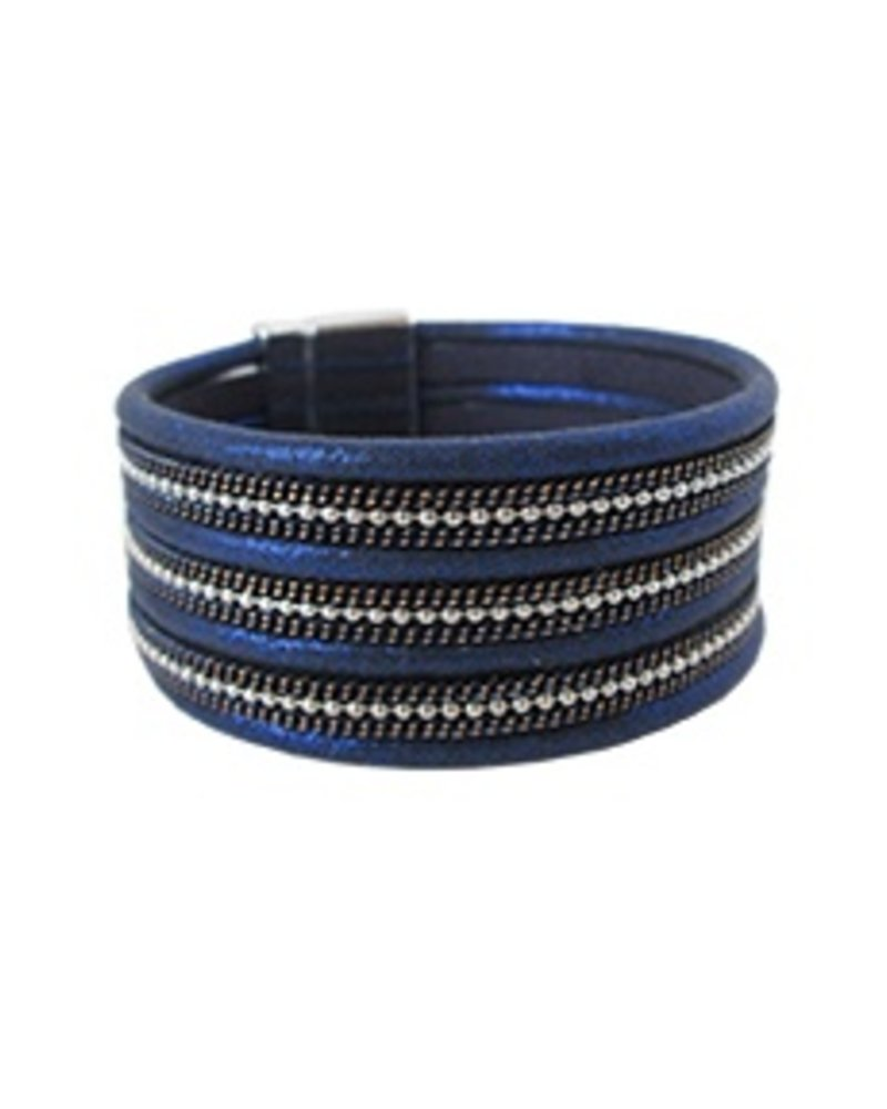 CARACOL BRACELET LARGE BLUE